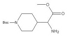 tert-butyl 4-(1-amino-2-methoxy-2-oxoethyl)piperidine-1-carboxylate